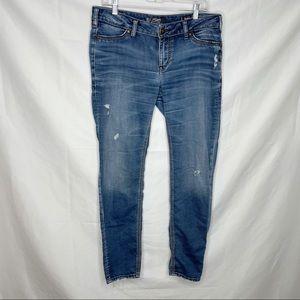 Silver Suki Super Skinny Joga Distressed Jeans